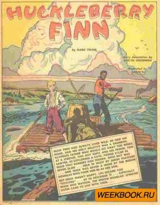 Classics illustrated - Huckleberry Finn.