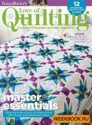 Love of Quilting - July/August 2016